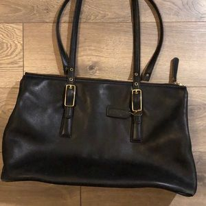 Coach large Black Vintage shoulder handbag